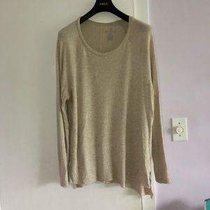 American Eagle long Sleeve Tee- Cream